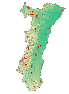 Carte du réseau des structures