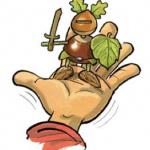 illutstration d'une figurine réalisé à partir d'un marron